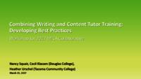 Combining writing and content tutor training: developing best practises