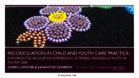Reconciliation in child and youth care practice