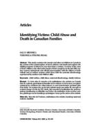 Identifying victims: child abuse and death in Canadian families.