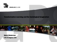 Transformative learning and the sociological imagination
