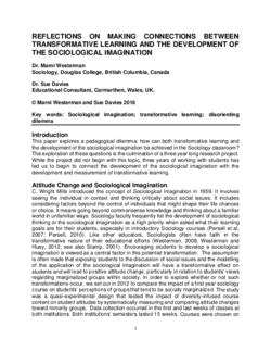 sociological imagination reflection paper
