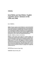 Ideal births and ideal babies:  English-Canadian advice literature in the 1950's and 1960's