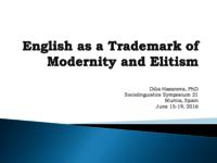 English as a trademark of modernity and elitism